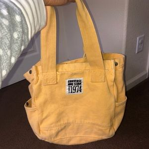 Yellow Distressed Converse Tote Bag